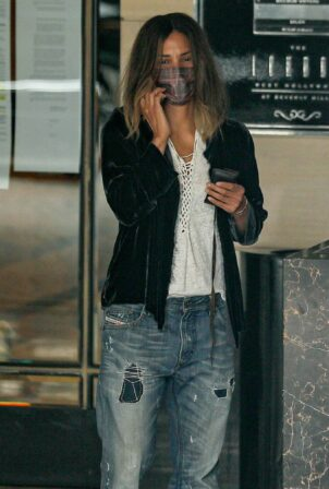 Halle Berry - Seen after a business meeting at The London Hotel in West Hollywood