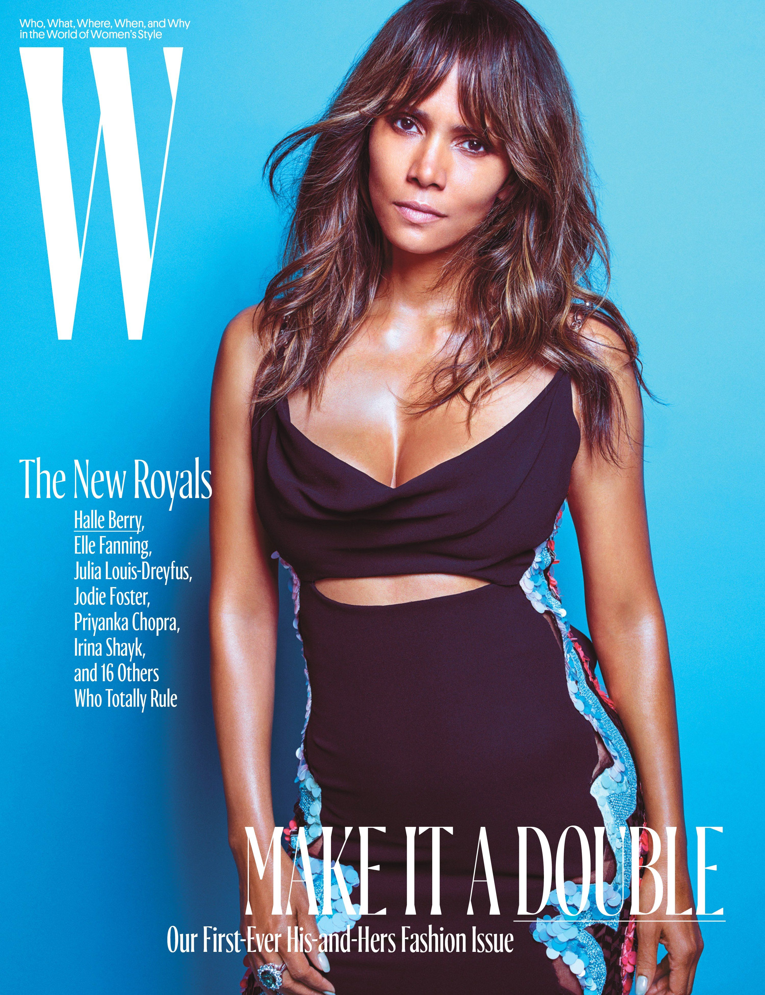 halle berry w magazine cover 2016 01 gotceleb. Black Bedroom Furniture Sets. Home Design Ideas