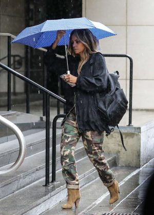 Halle Berry - Wearing camouflage army pants in Beverly Hills