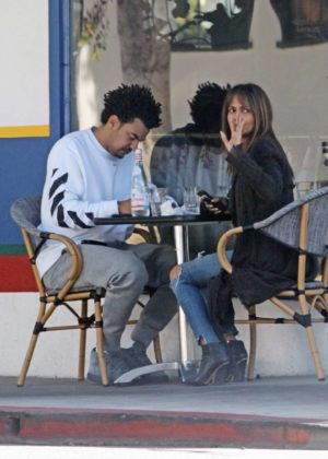 Halle Berry with her new boyfriend Alex Da Kid in LA