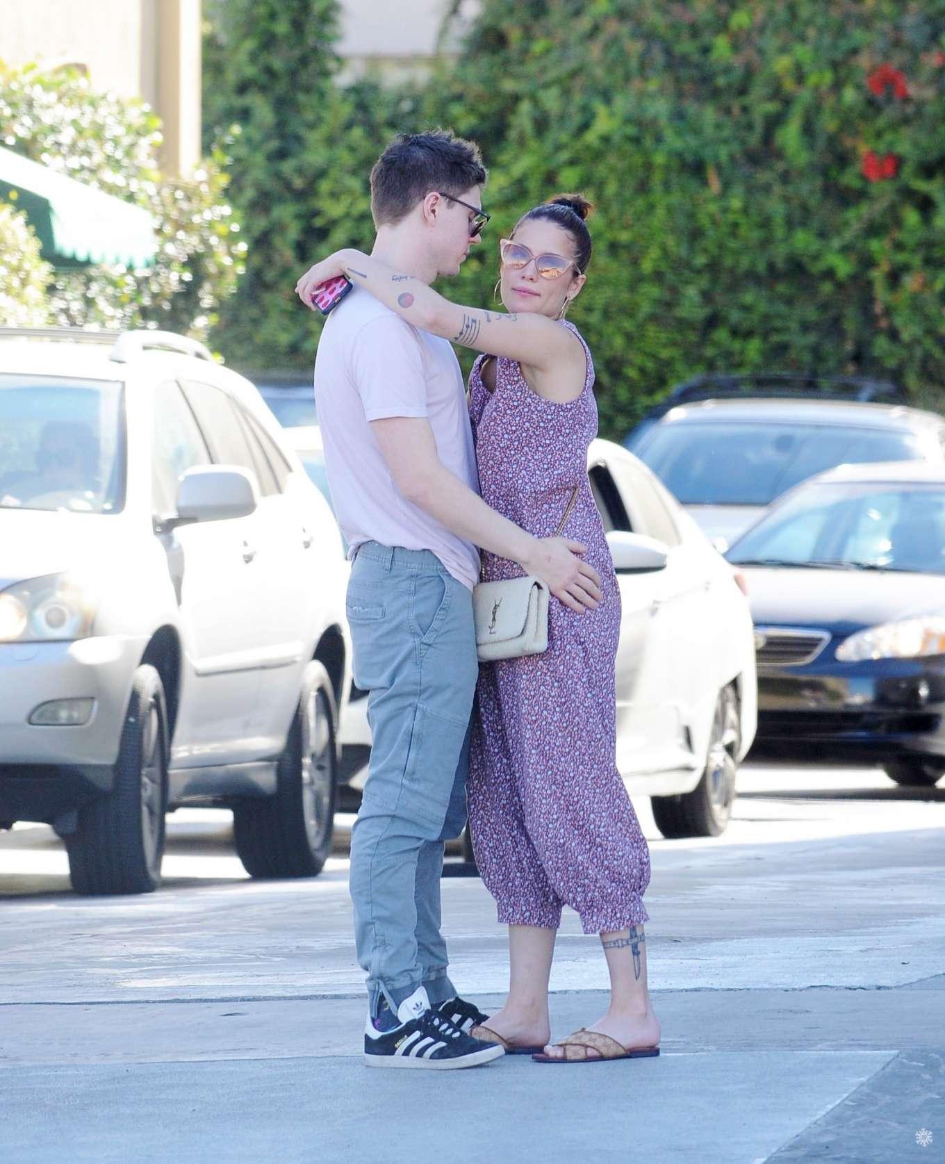 Halsey and Evan Peters at Santa Monica Beach in Los Angeles