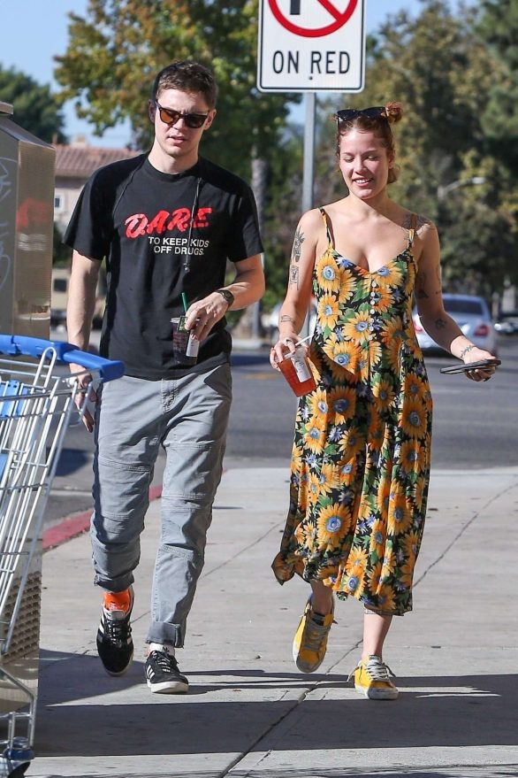 Halsey and Evan Peters at Starbucks in Burbank