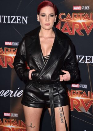 Halsey - 'Captain Marvel' Premiere in Los Angeles