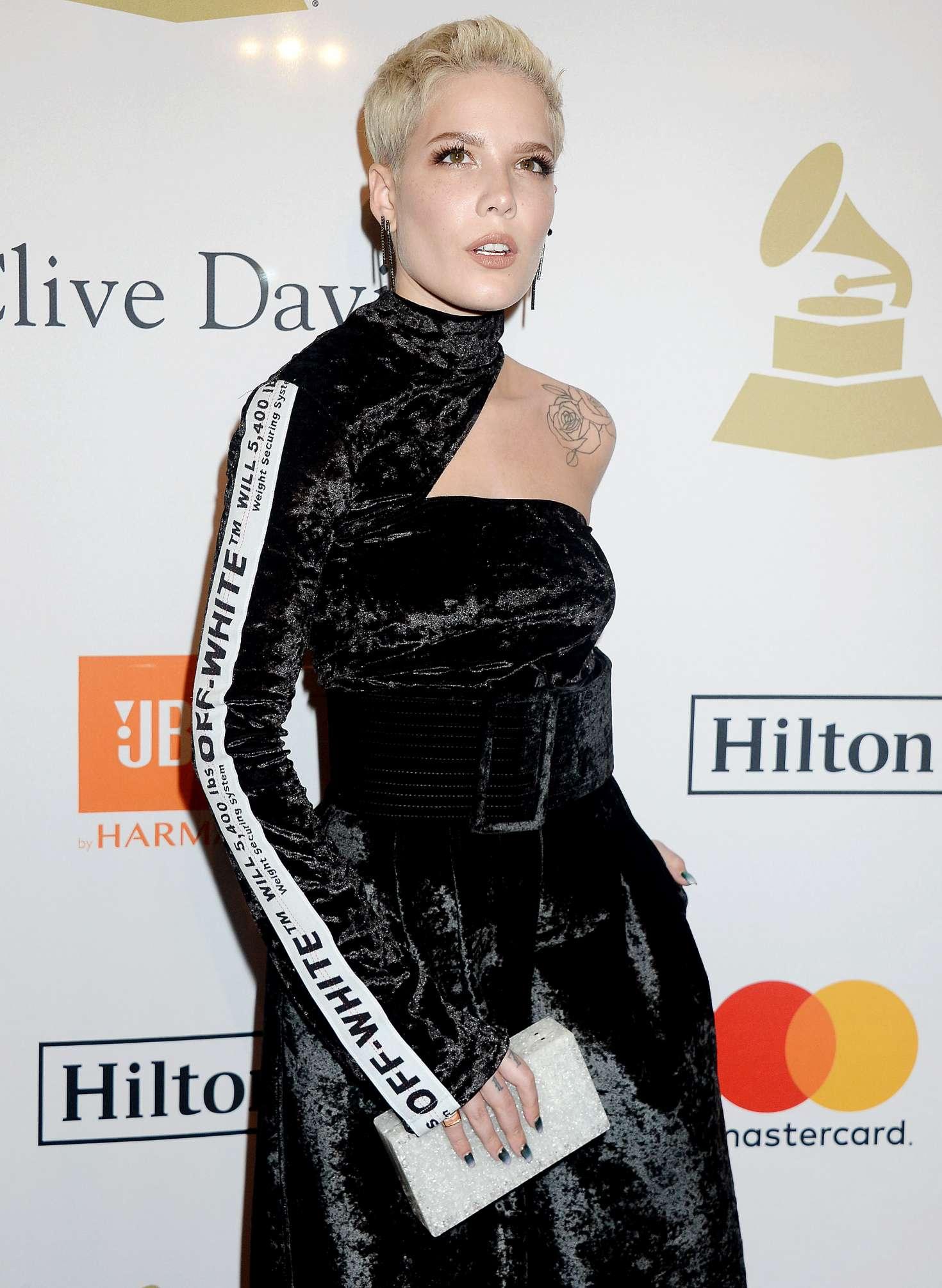 Halsey - Clive Davis Pre-Grammy Party 2017 in Los Angeles
