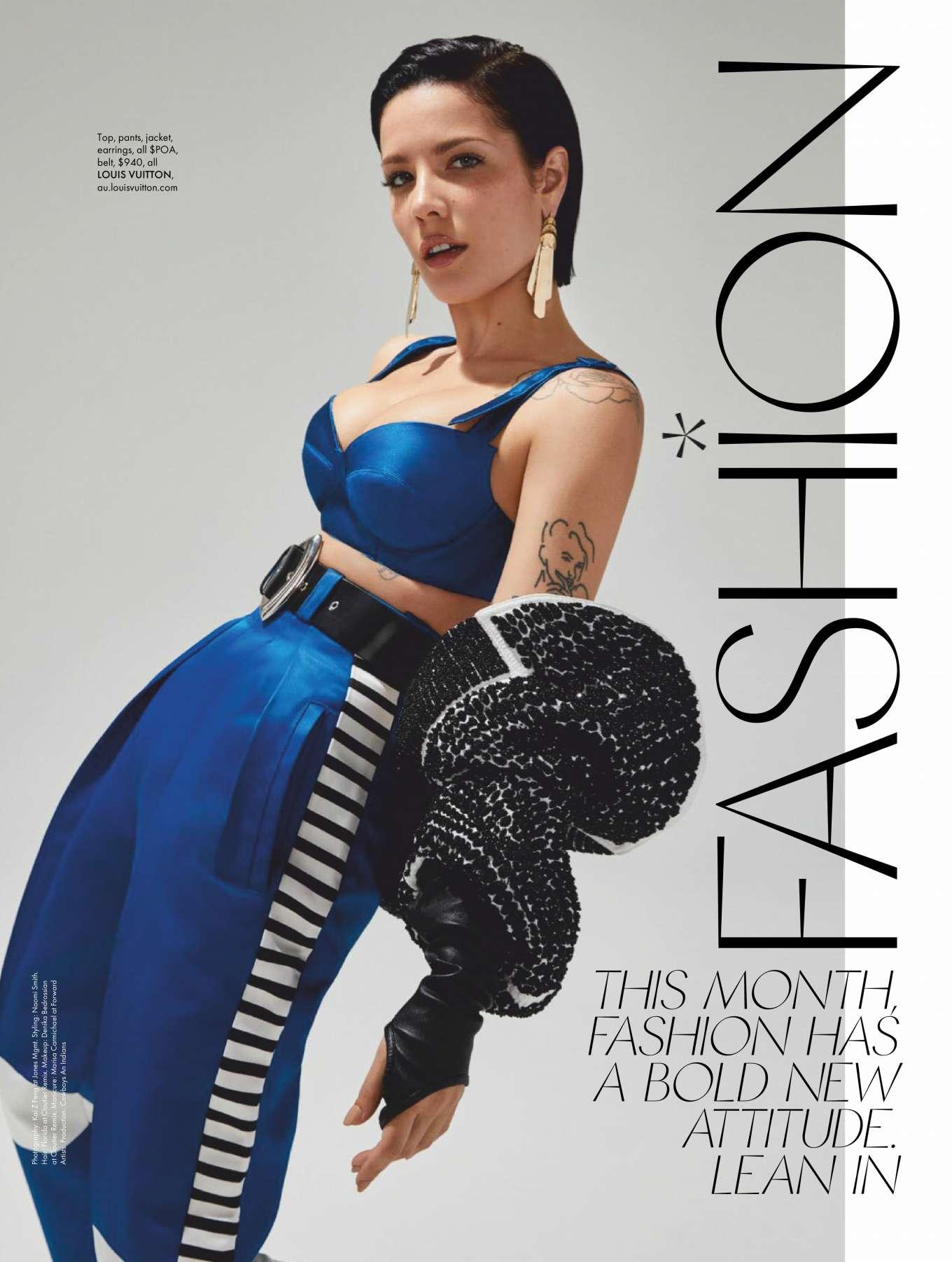 Halsey - ELLE Australia Magazine (December 2019)