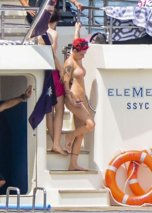 Halsey in Bikini on a Yacht in Sydney