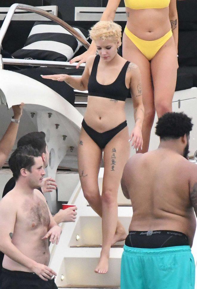 Halsey in Black Bikini 2018 -13