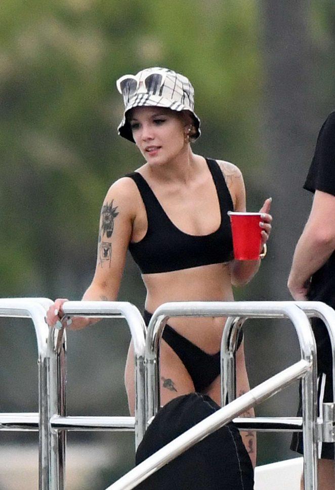 Halsey in Black Bikini 2018 -16