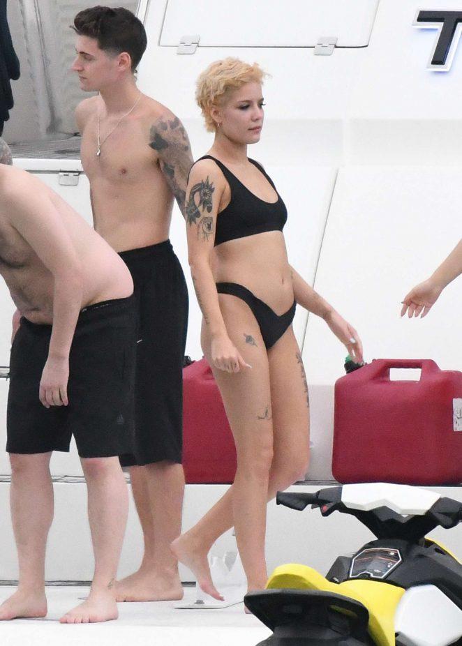 Halsey in Black Bikini 2018 -17