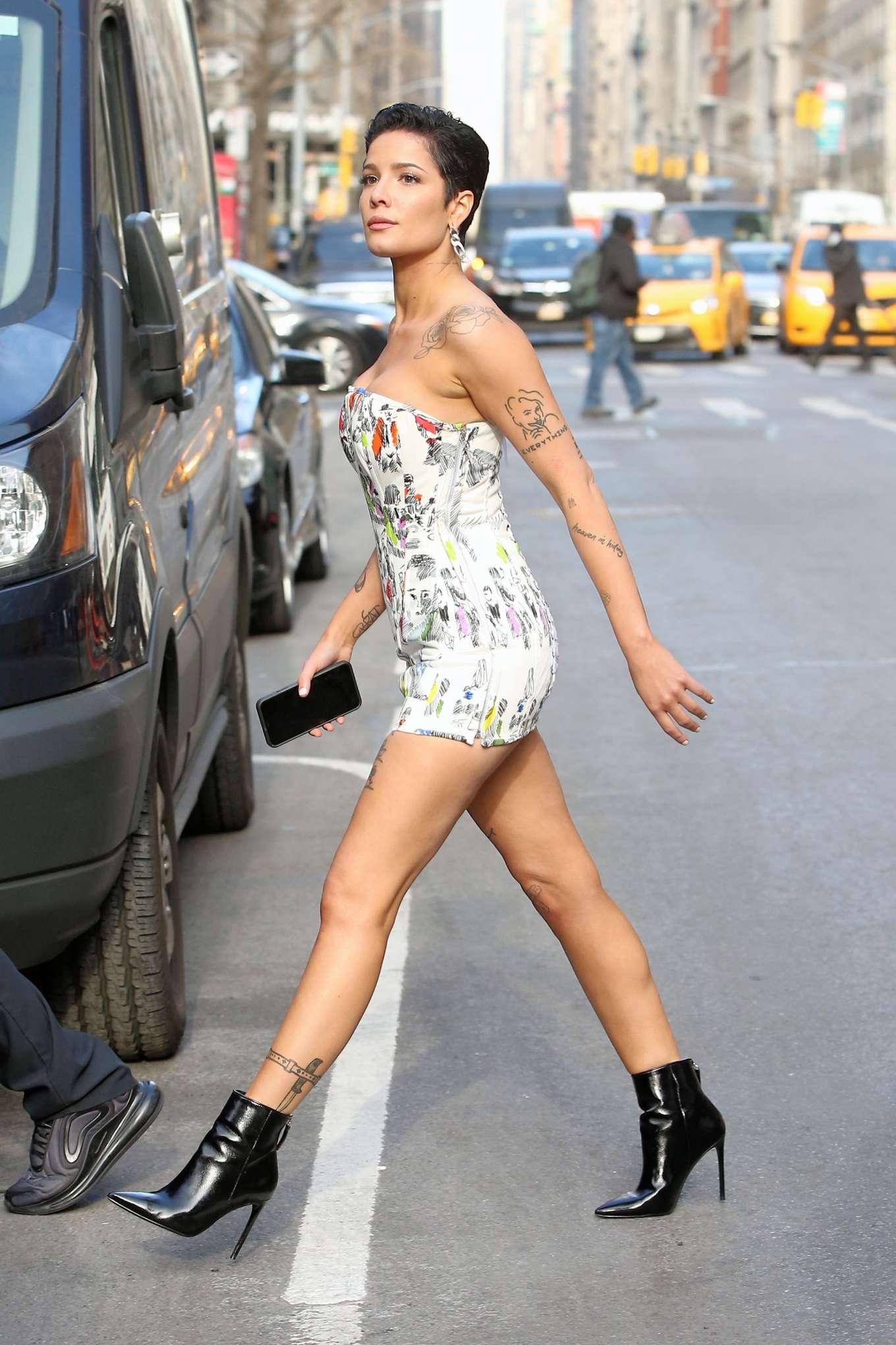 Halsey 2020 : Halsey in Mini Dress at Salmagundi Club in New York City-08