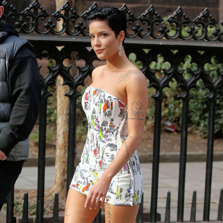 Halsey 2020 : Halsey in Mini Dress at Salmagundi Club in New York City-13