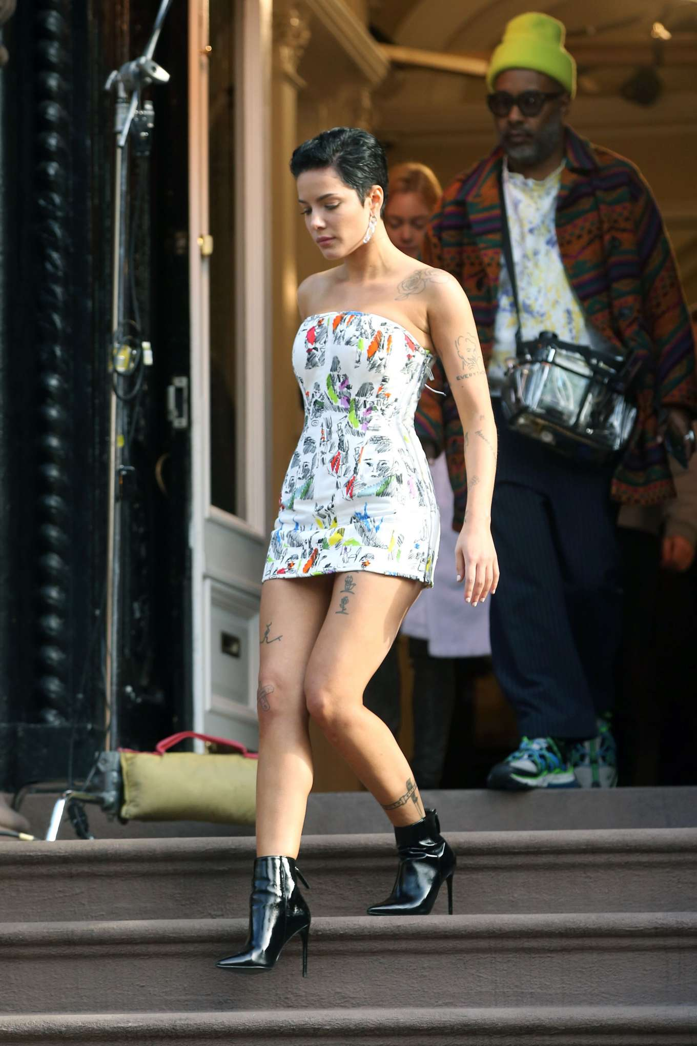 Halsey 2020 : Halsey in Mini Dress at Salmagundi Club in New York City-14