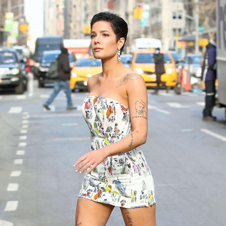 Halsey 2020 : Halsey in Mini Dress at Salmagundi Club in New York City-20