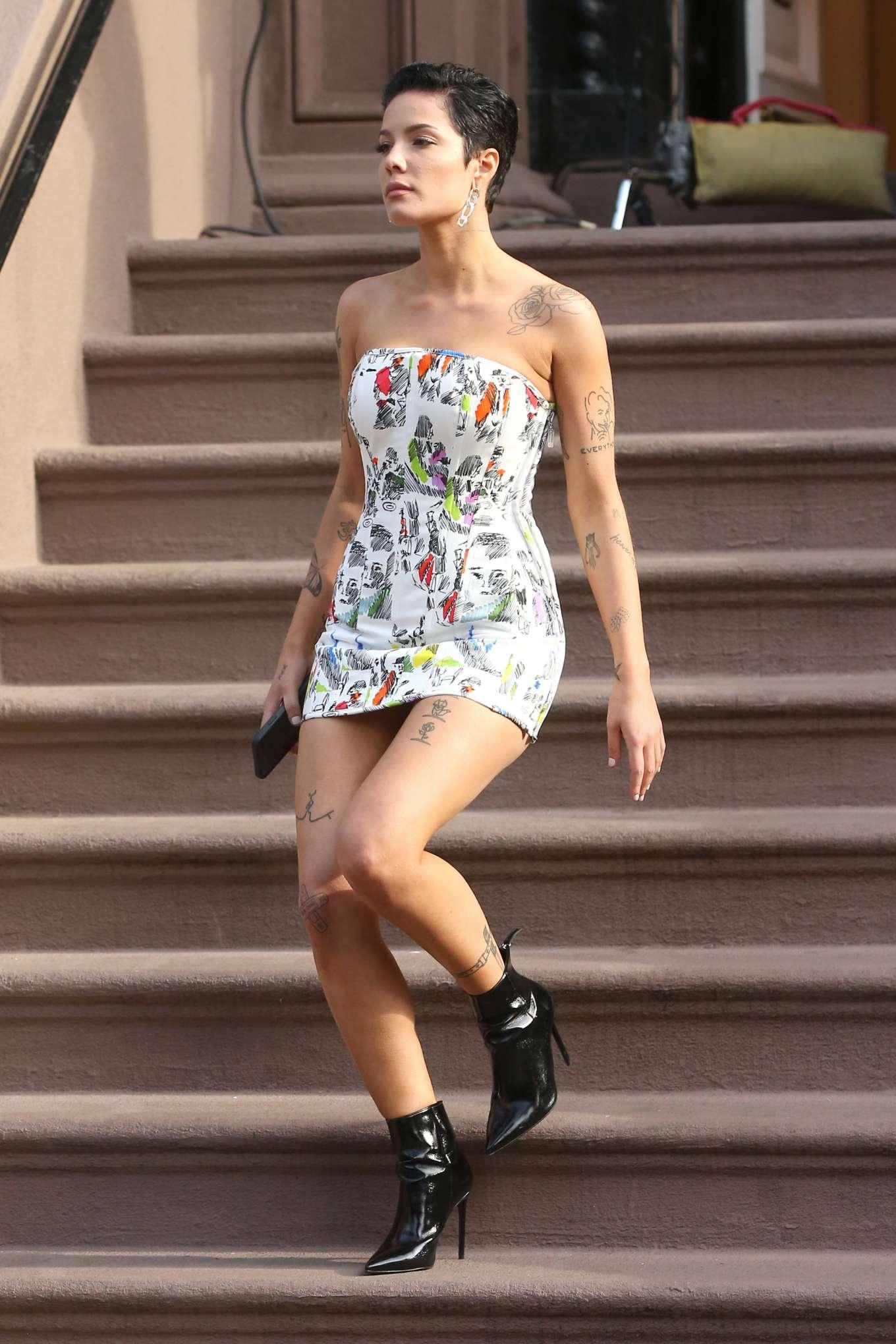 Halsey 2020 : Halsey in Mini Dress at Salmagundi Club in New York City-22