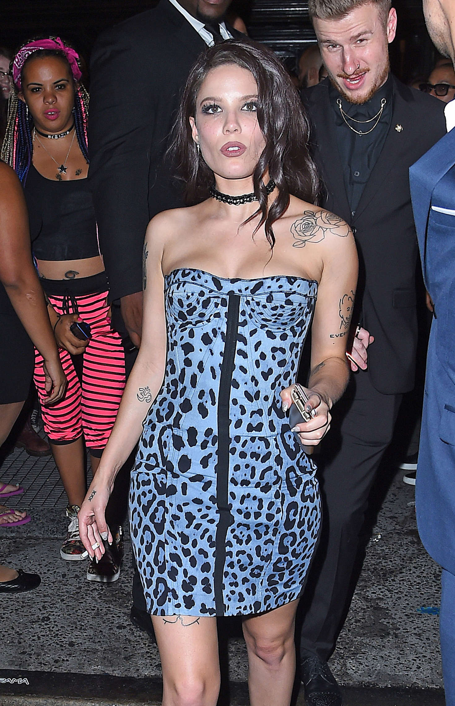 Halsey In Mini Dress At Up And Down Club In Nyc  Gotceleb-7233