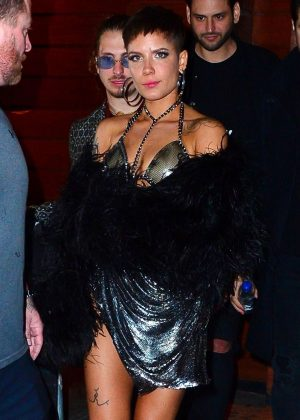 Halsey - Leaving Victoria's Secret Fashion Show After Party in NYC