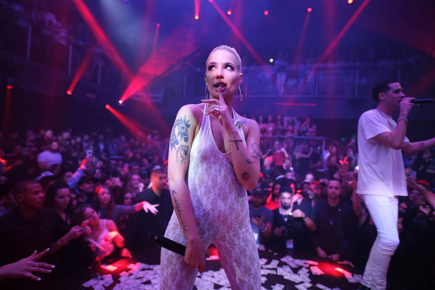 Halsey - Performing at E11EVEN Nightclub in Miami