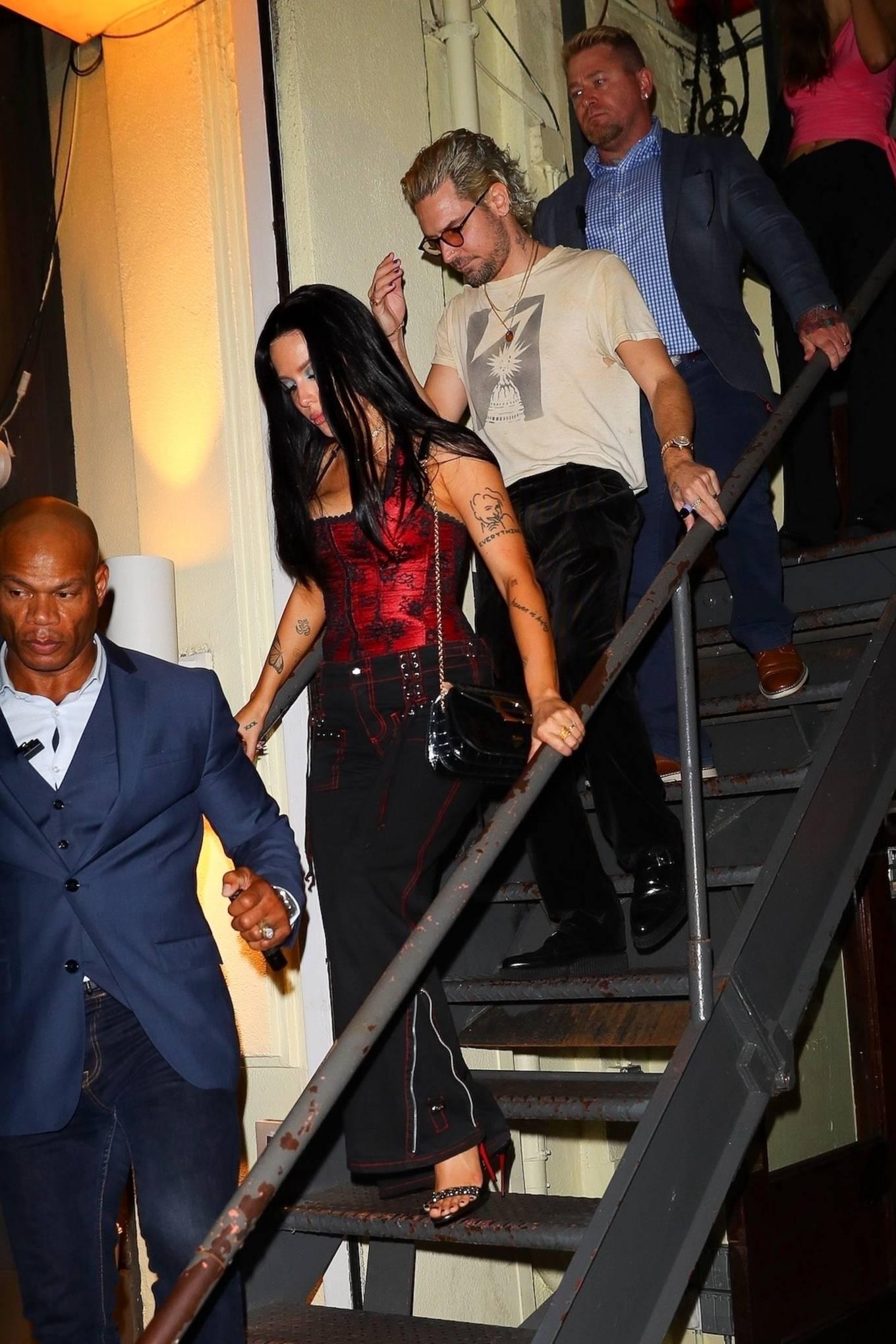 Halsey - With her boyfriend leave Bella Hadid's New York Fashion Week event