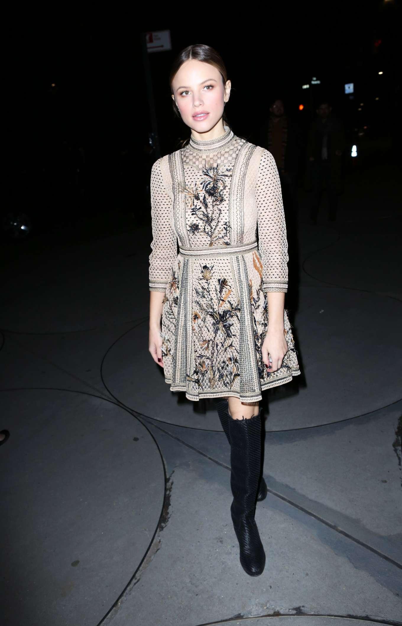 Halston Sage - Arrives at Guggenheim International Gala in New York