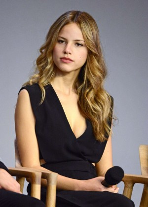 Halston Sage - Paper Towns cast and filmakers event in NY