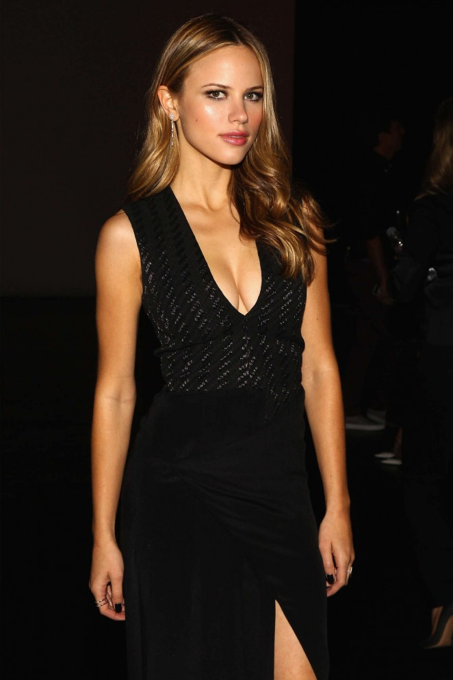 Halston Sage – Prabal Gurung Fashion Show Spring 2016 NYFW in NYC