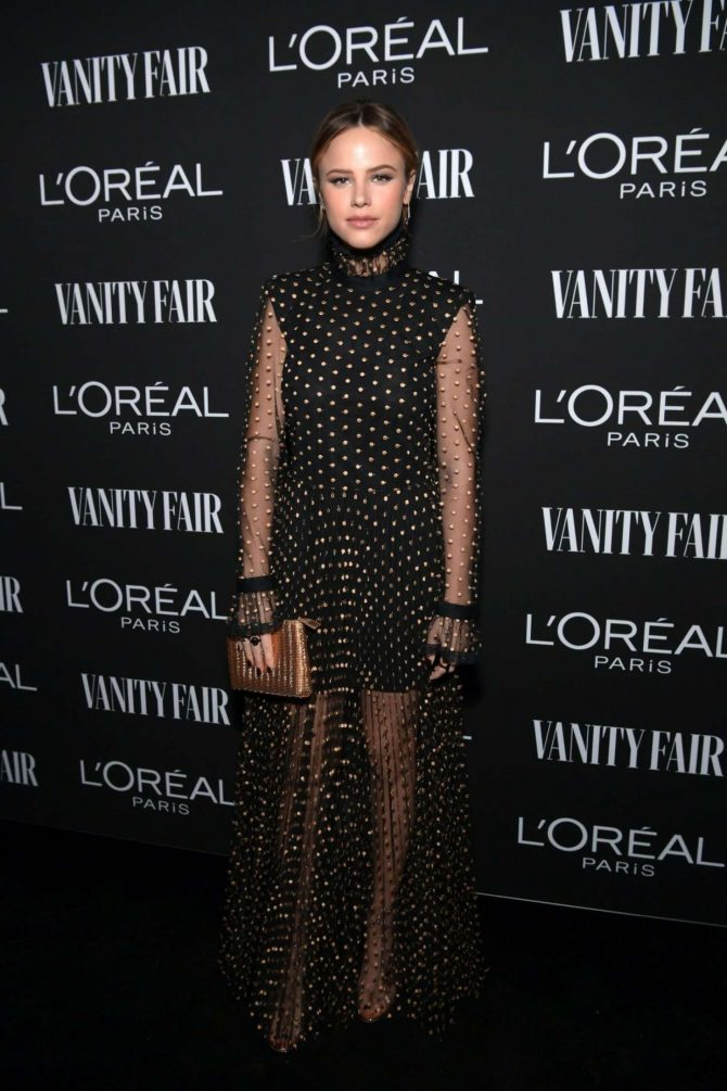 Halston Sage - Vanity Fair and L'Oreal Paris Celebrate New Hollywood in LA