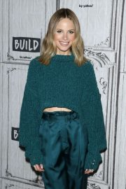 Halston Sage - Visits BUILD Series in New York City