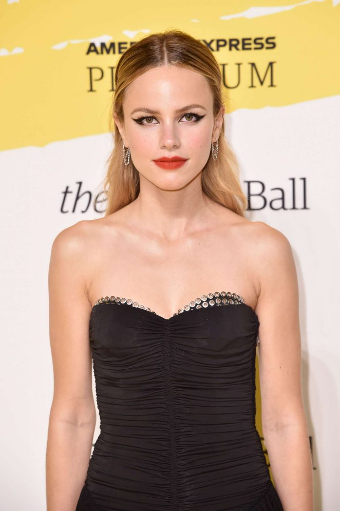 Halston Sage – Yellow Ball hosted by American Express and Pharrell Williams in NYC