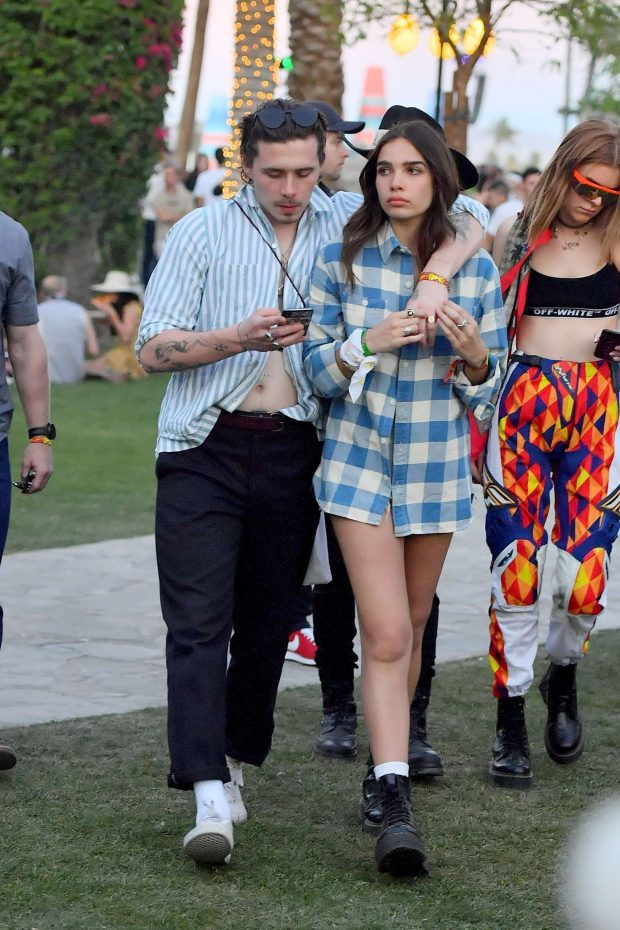 Hana Cross and Brooklyn Beckham at Coachella Valley Music and Arts Festival -03