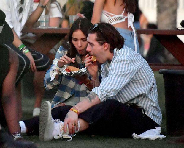 Hana Cross and Brooklyn Beckham at Coachella Valley Music and Arts Festival -07