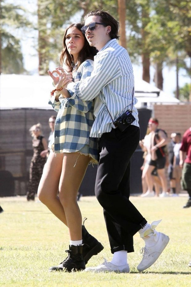 Hana Cross and Brooklyn Beckham at Coachella Valley Music and Arts Festival -08