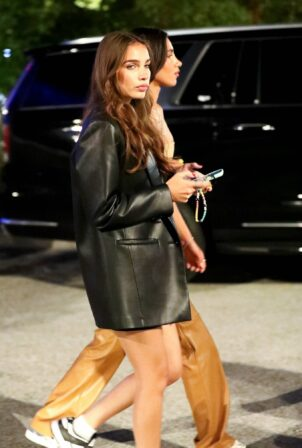 Hana Cross - leaving Drake's Billboard after-party at the SoFi Stadium in Inglewood