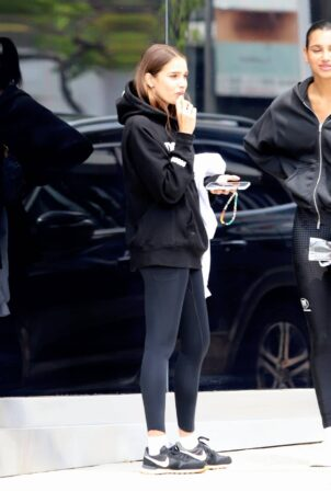 Hana Cross - leaving the Dogpound gym after workout in West Hollywood
