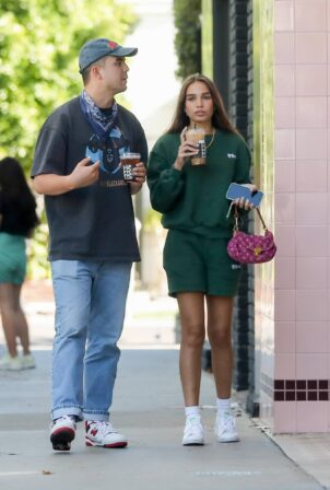 Hana Cross - With a new boyfriend at Alfred Coffee on Melrose Place in West Hollywood