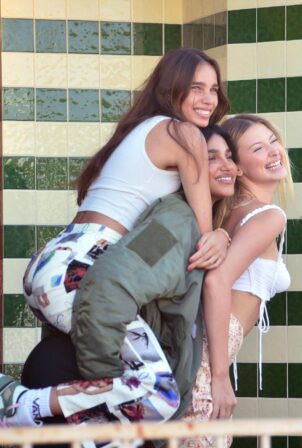 Hana Cross - With Chiara Sampaio on an Impromptu Photoshoot in Los Angeles