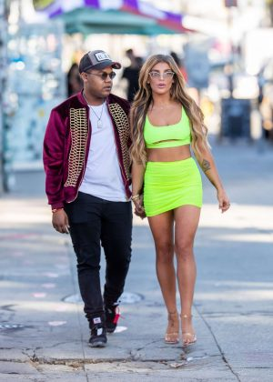 Hana Giraldo and Kyle Massey - Out in Hollywood
