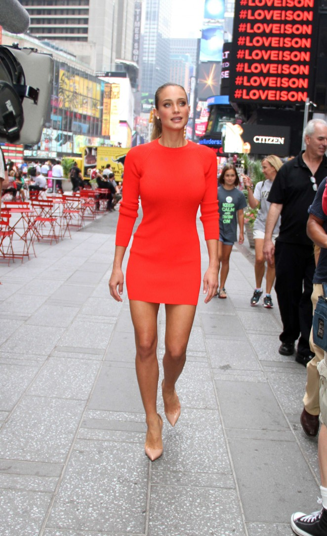 hannah davis in red mini dress 17 gotceleb
