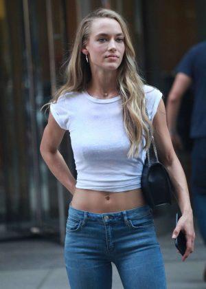 Hannah Ferguson - Arrives at Victoria's Secret Auditions in New York