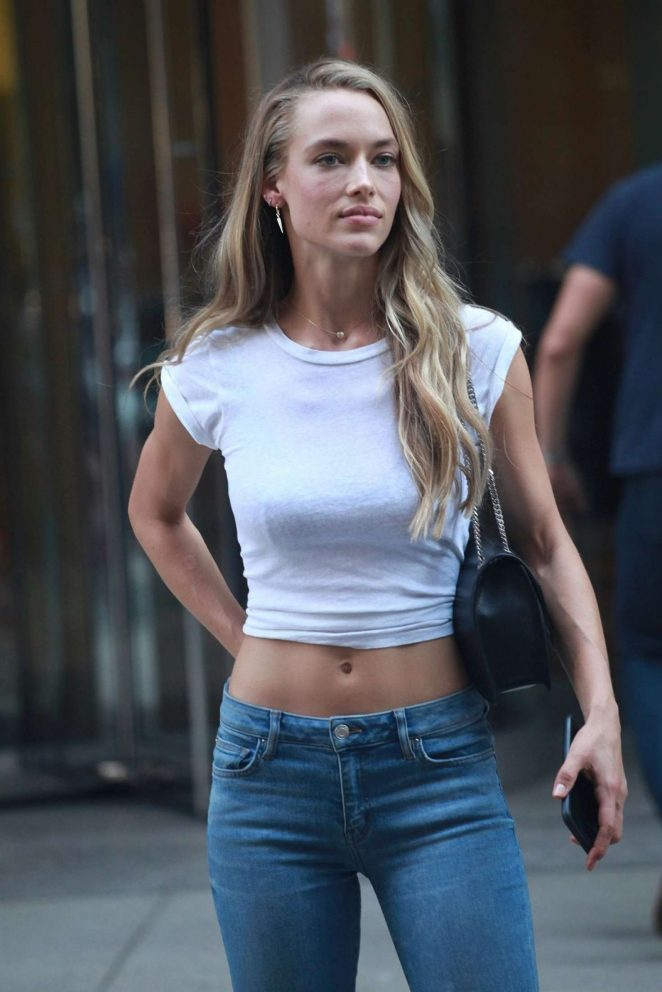 Hannah Ferguson - Arrives at Victoria's Secret Auditions in New York