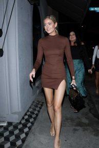 Hannah Godwin in Mini Dress - Outside Craig's Restaurant in West Hollywood