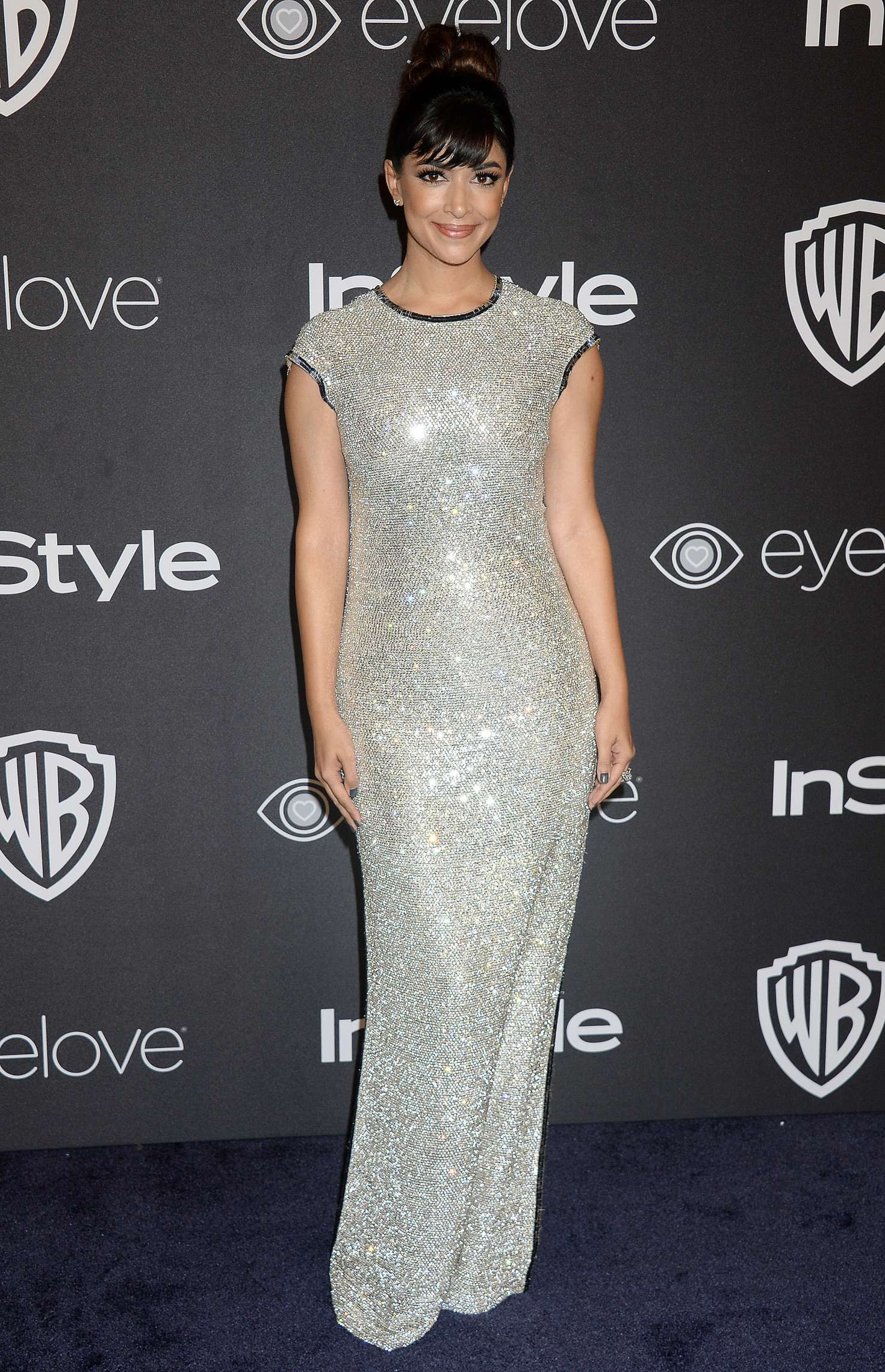 Hannah Simone - 2017 InStyle and Warner Bros Golden Globes After Party in LA