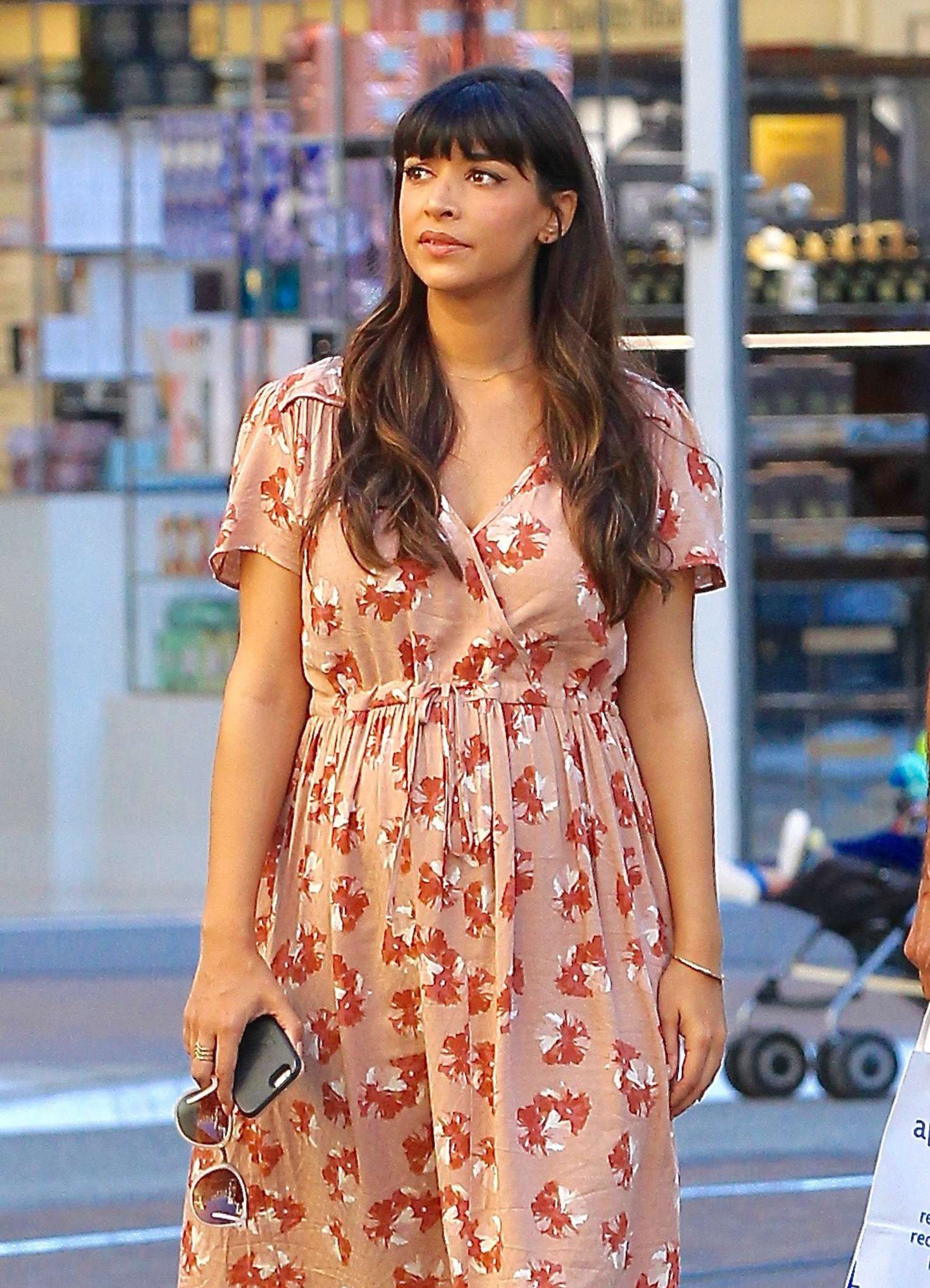 Hannah Simone Shopping at The Grove in Hollywood