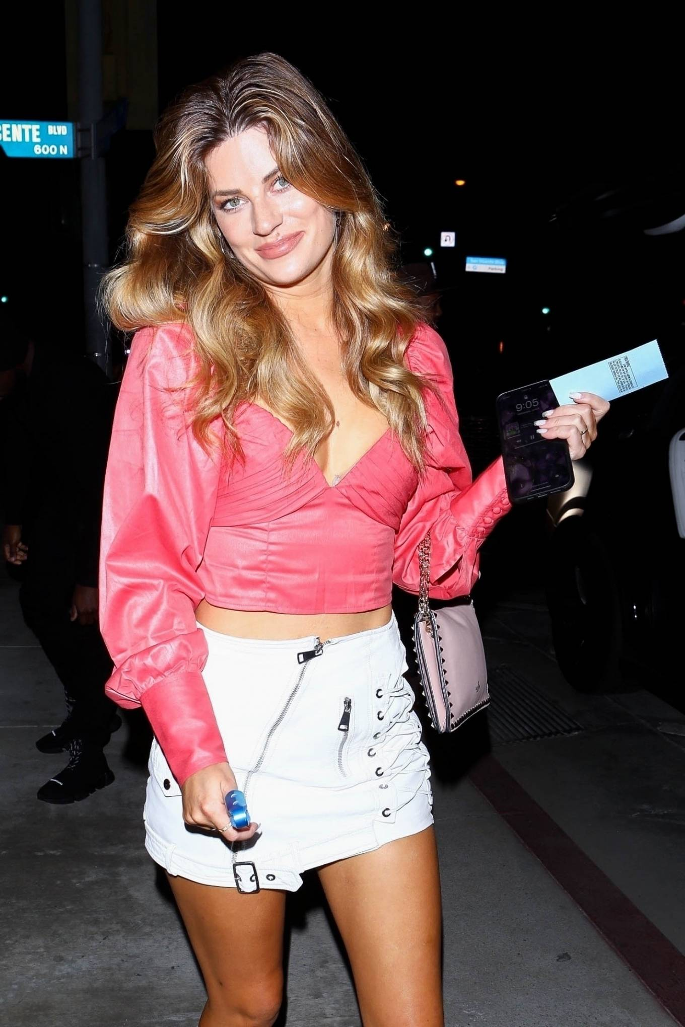 Hannah Stocking 2021 : Hannah Stocking – In mini skirt arrives for dinner at Catch LA in West Hollywood-05