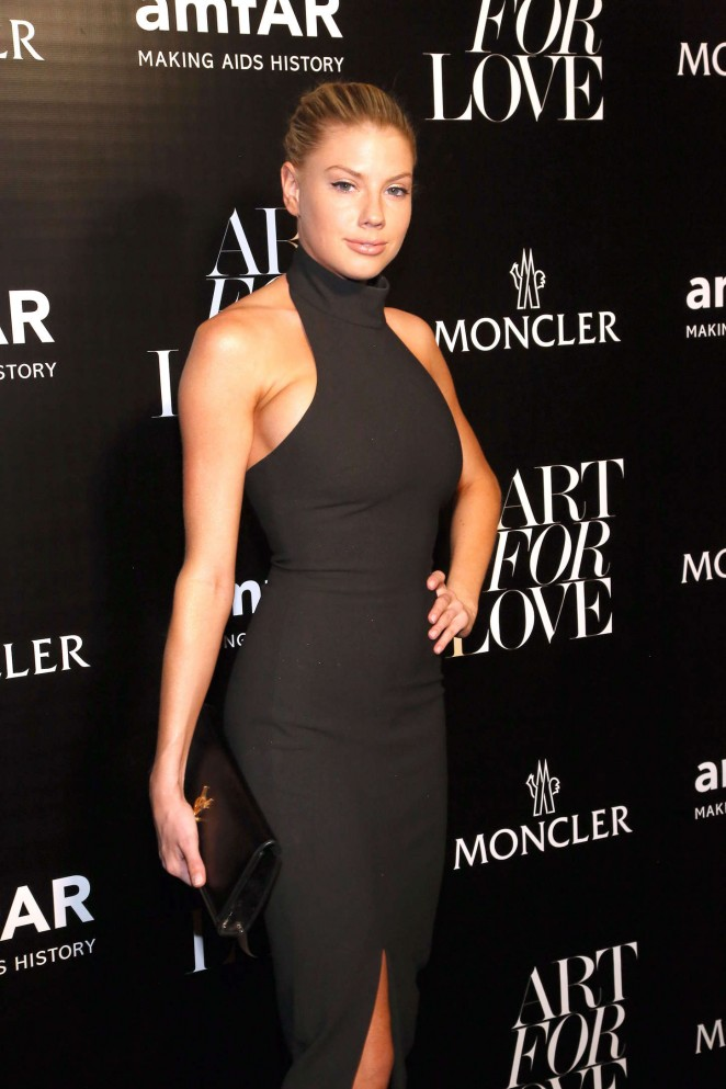 harlotte McKinney - Moncler and amfAR Celebrate 'Art For Love' in NYC
