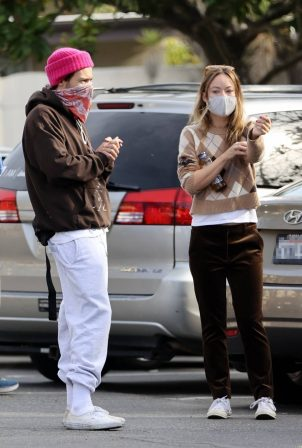 Harry Styles and Olivia Wilde - Spotted with friends in Santa Barbara