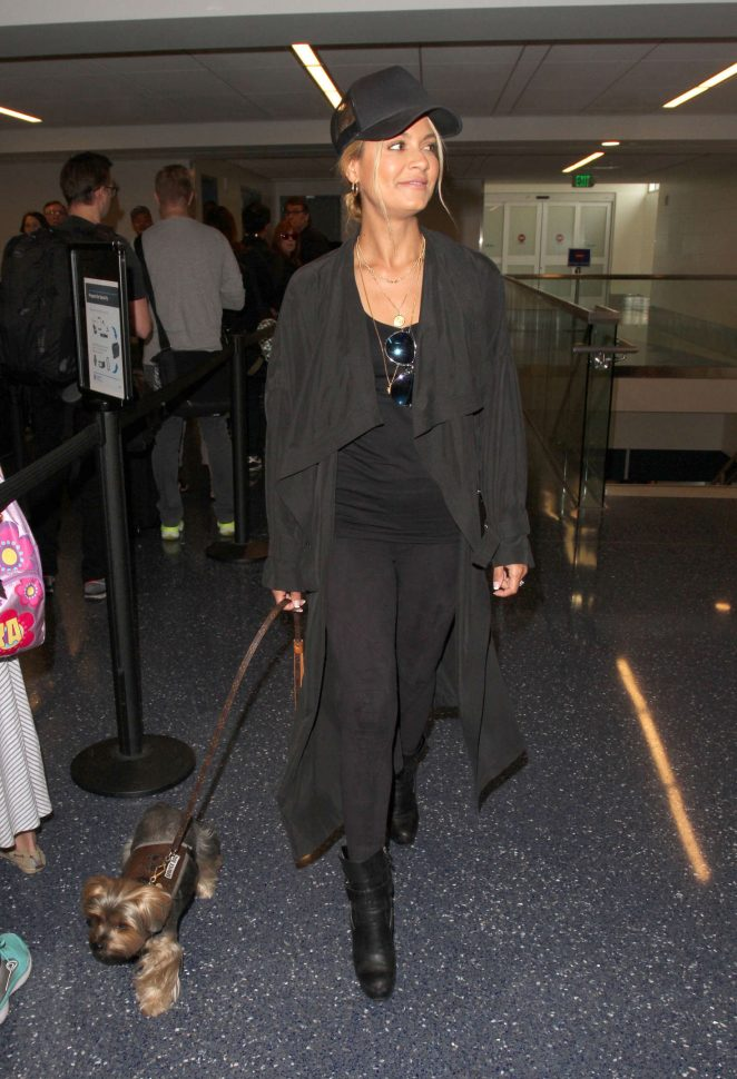 Havana Brown - Arrives at Los Angeles International Airport