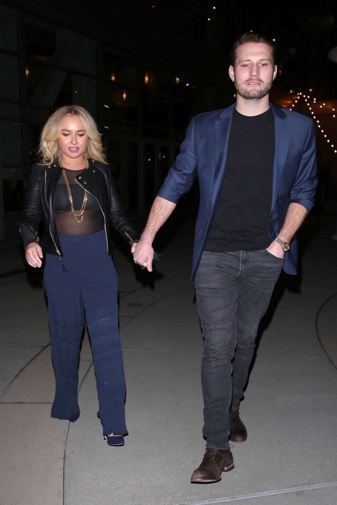 Hayden Panettiere and Brian Hickerson – Night out in Hollywood
