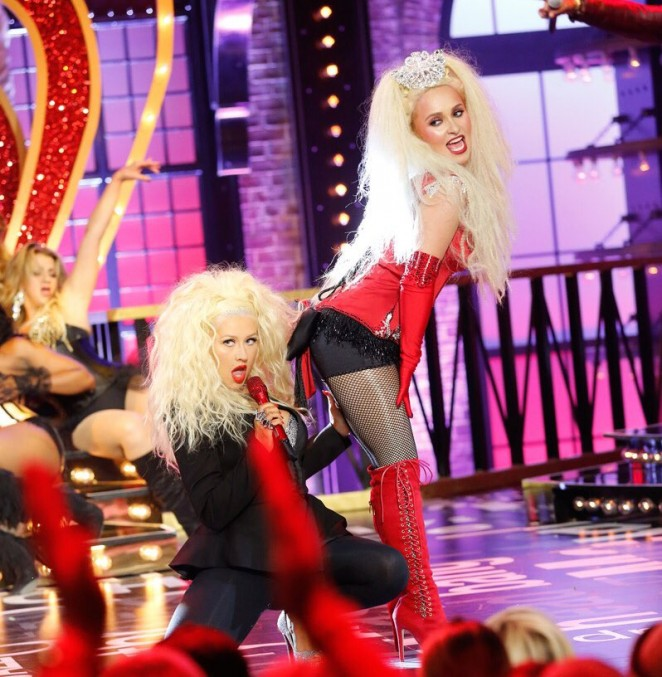 Hayden Panettiere and Christina Aguilera - Performs 'Lady Marmalade' Lip Sync Battle Promos