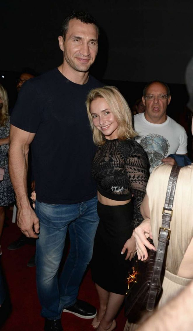 Hayden Panettiere and Wladimir Klitschko - Opening Of The Faena Art Dome Miami Edition