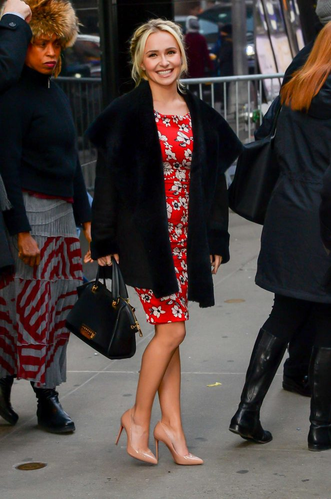 Hayden Panettiere: Arrives at Good Morning America -01